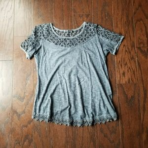 Tops - FLASH SALE Open Back Grey Tee